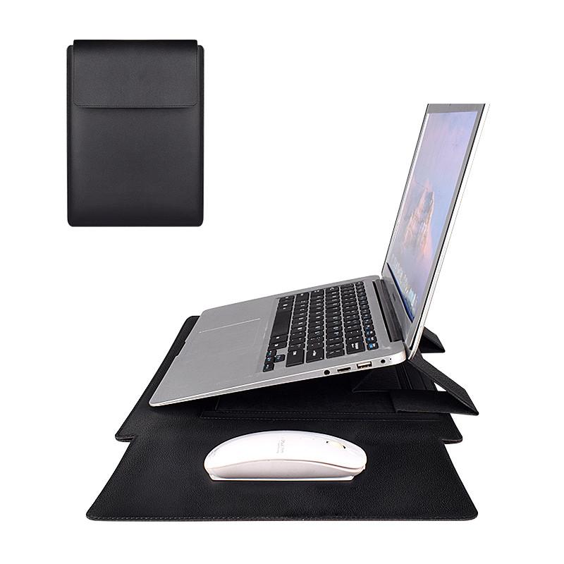 """Чохол-конверт-трансформер для Macbook Air/Pro 13,3"""" - чорний (PU05)"""