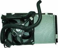 Радиатор вод. охлаждения ВАЗ 21073 инж. (алюм - паяный) в сборе (патруб + электровент.) (пр-во АвтоВАЗ, LUZAR)