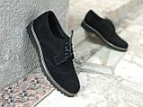 Туфли броги мужские черные замшевые Оникс (Onyx) от бренда Legessy размер 40, 41, 42, 43, 44, 45, фото 4