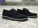 Туфли броги мужские черные замшевые Оникс (Onyx) от бренда Legessy размер 40, 41, 42, 43, 44, 45, фото 5