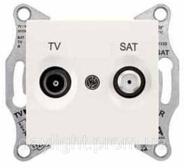 Розетка TV/SAT конечная слоновая кость Schneider Electric Sedna