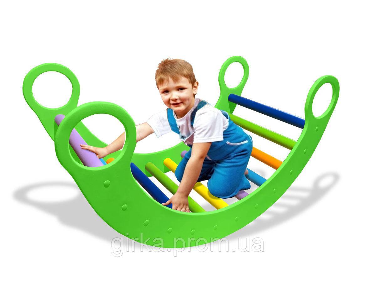 Детская качалка зеленая