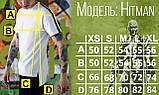 Футболка чоловіча біла подовжена з лампасом бренд ТУР модель Хітман (Hitman) розмір XS, S, M, L, XL, фото 2