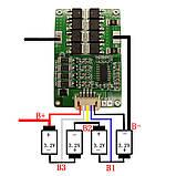 4s 3,2 (12,8)V 18-20A LiFePO4 BMS, плата защиты/балансир 4х3,2 В   литий-железо-фосфатных аккумуляторов, фото 3