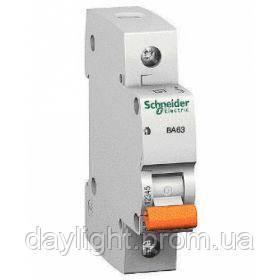 Автоматический выключатель Schneider Electric 1 полюс 10А ВА63