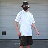 Футболка чоловіча біла з рефлективным кантом модель Сайбот (Saibot) бренд ТУР розмір S, M, L, XL, фото 2