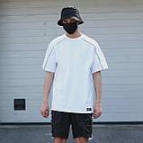Футболка чоловіча біла з рефлективным кантом модель Сайбот (Saibot) бренд ТУР розмір S, M, L, XL, фото 3