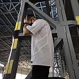 Футболка чоловіча біла з рефлективным кантом модель Сайбот (Saibot) бренд ТУР розмір S, M, L, XL, фото 5