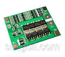 3s 3,7V 25A BMS (12,6V) плата защиты/балансир 3х3,7В Li-ion аккумуляторов