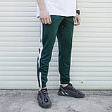 Спортивні штани чоловічі зелені з білою смужкою Роккі (Rocky) від бренду ТУР, фото 2
