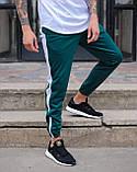 Спортивні штани чоловічі зелені з білою смужкою Роккі (Rocky) від бренду ТУР, фото 3