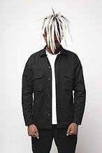 Куртка-сорочка чорна чоловіча Ф'юрі (Fury) від бренду ТУР розмір S, M, L, XL, XXL XL