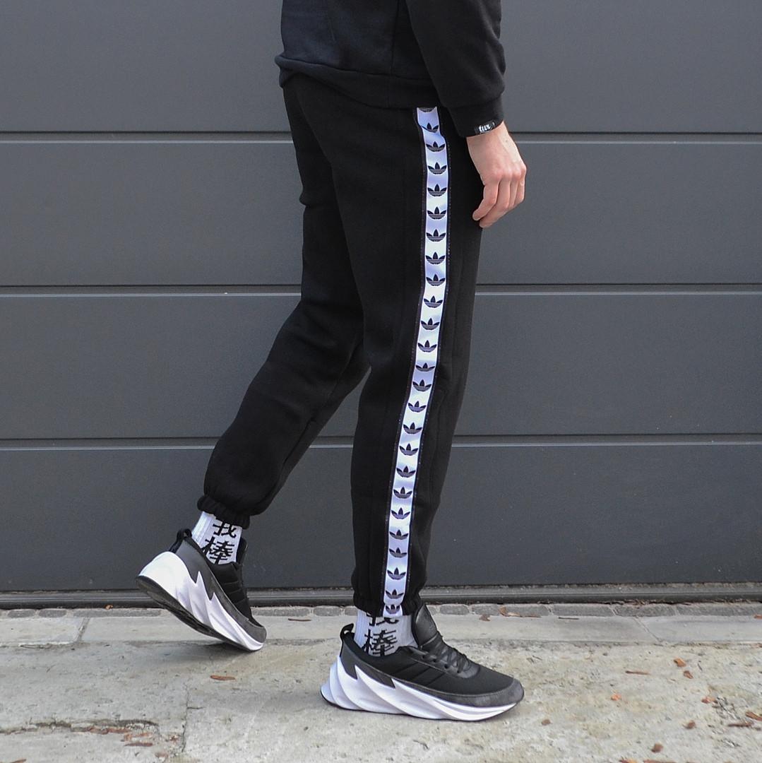 Cпортивные штаны мужские весна/лето чёрные Адидас adidas легкие Размеры: XS, M, L S, XL S