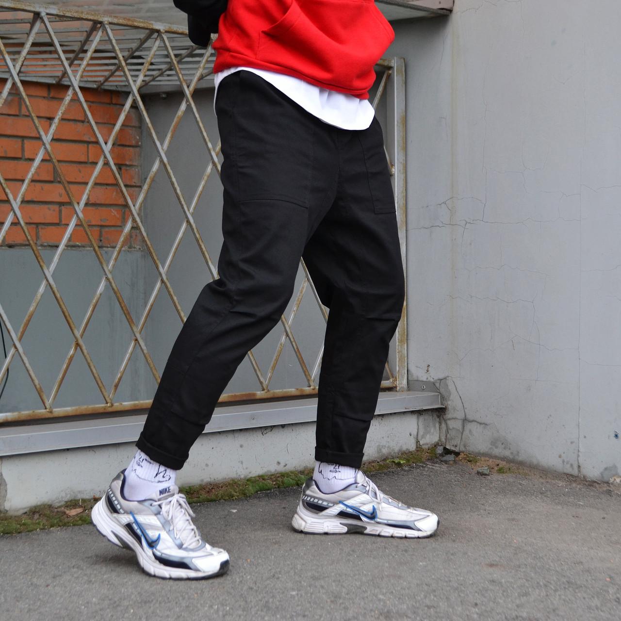 Штани карго чоловічі чорні бренд ТУР модель Джейсон (Jason) S