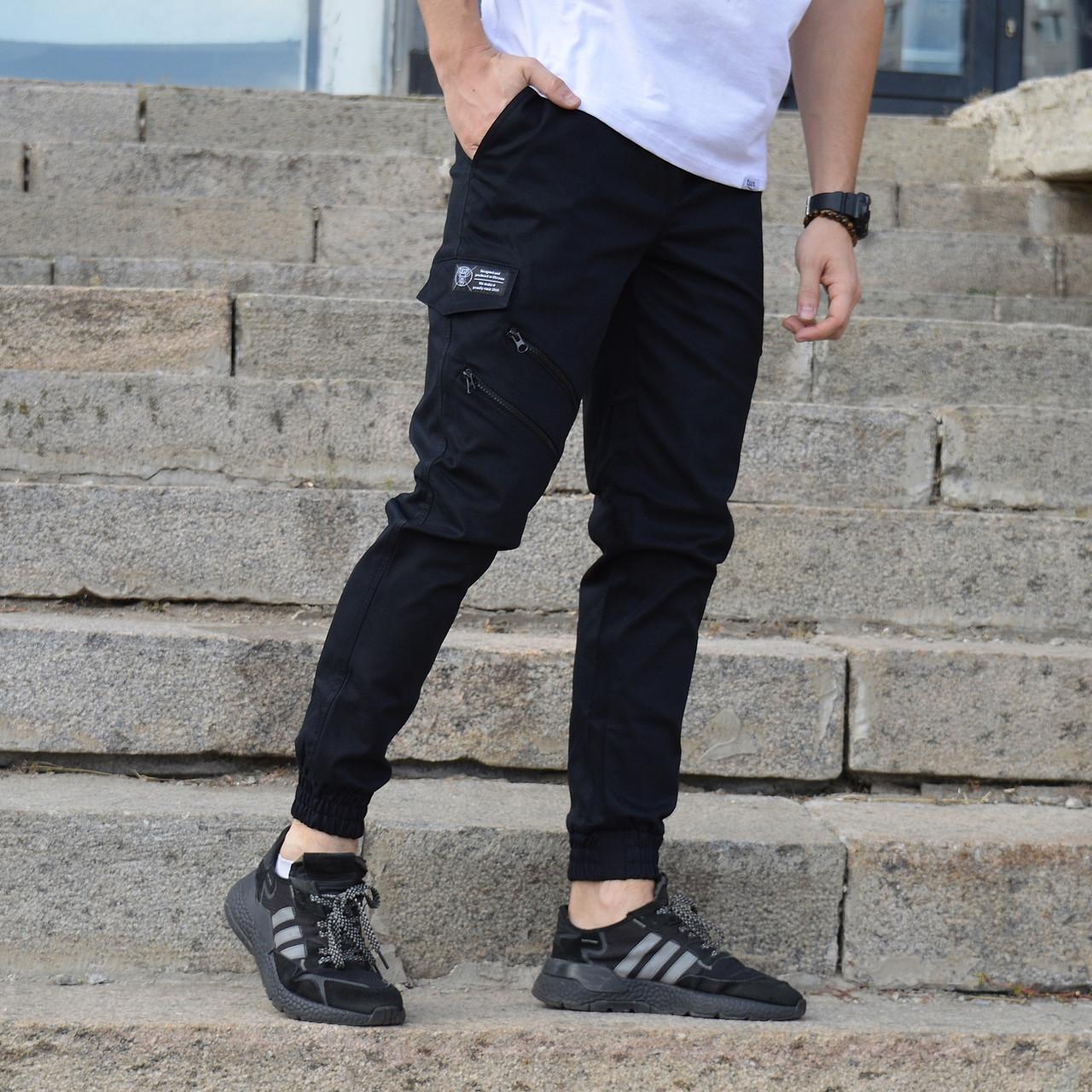 Штани карго чоловічі чорні від бренду ТУР модель Інк (Ink) розміри S,M,L,XL,XXL