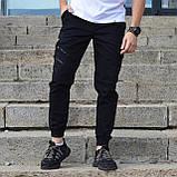 Штани карго чоловічі чорні від бренду ТУР модель Інк (Ink) розміри S,M,L,XL,XXL, фото 2