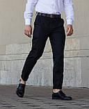 Штани чиносы чорні чоловічі бренд ТУР модель Стрендж (Strange) розмір S, M, L, XL, фото 2