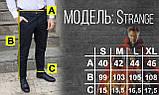 Штани чиносы чорні чоловічі бренд ТУР модель Стрендж (Strange) розмір S, M, L, XL, фото 3
