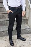 Штани чиносы чорні чоловічі бренд ТУР модель Стрендж (Strange) розмір S, M, L, XL, фото 5