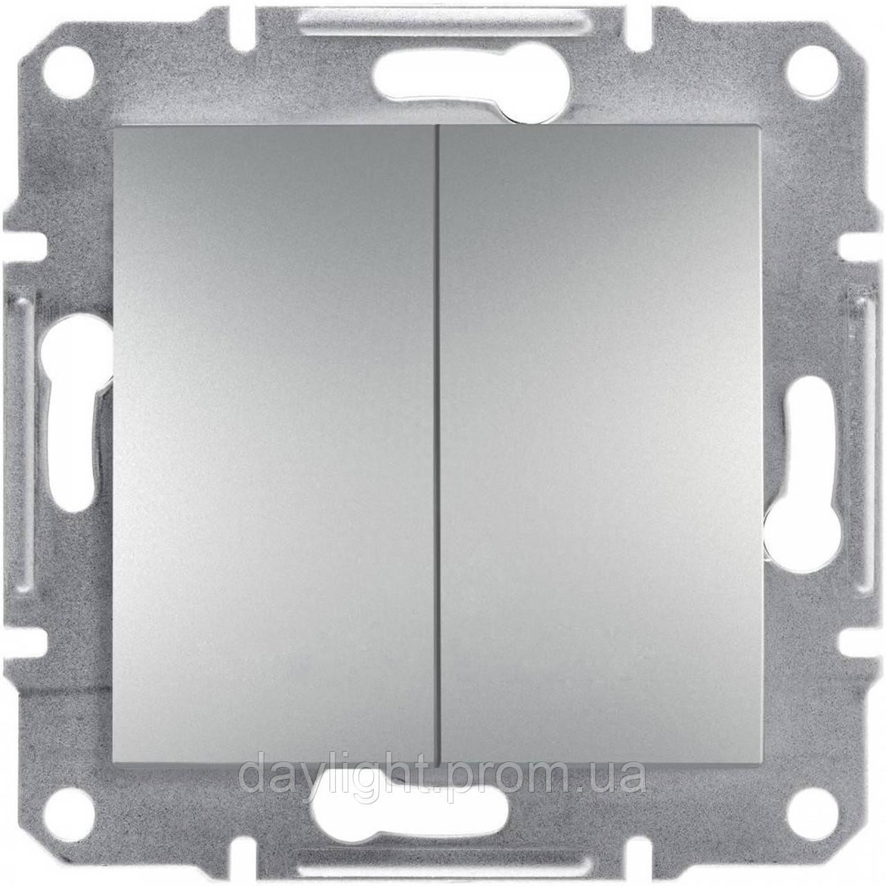 Выключатель 2-й алюминий Schneider Electric Asfora