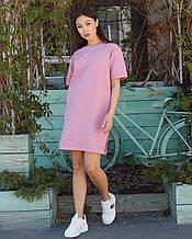 Сукня-футболка жіноча рожеве бренд ТУР модель Саріна (Sarina) розмір S, M, L S