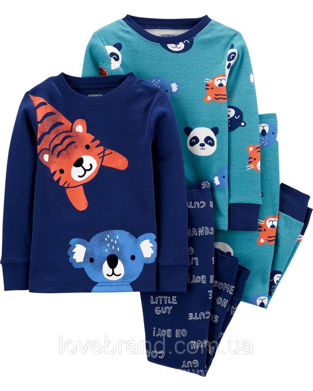 """Пижамы Carter's для мальчика  """"Тигр"""" , детская пижама картерс (набор)"""