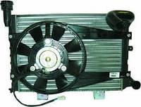 Радиатор вод. охлаждения ВАЗ 21073 инж. (алюм.) в сборе (патрубок + электровенто) (производство АвтоВАЗ, ДААЗ)