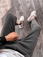 Спортивные штаны брюки мужские зауженные к низу демисезонные серые укороченные Турция