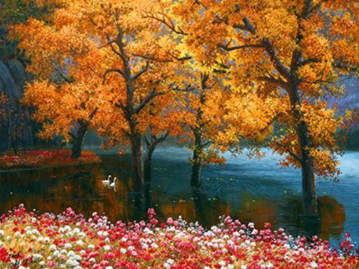 """Картина по номерам EOTG6473_O Р40*50см """"Природа"""" OPP (холст на раме с краск.кисти)"""