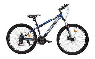 """Велосипед гірський Crossride Hiland 24"""" MTB ST Синій"""