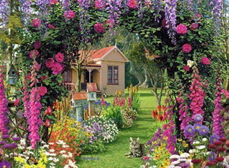 "Картина за номерами EOTG6388_O 40*50см ""Сад"" OPP (полотно на рамі з фарбами.кисті)"