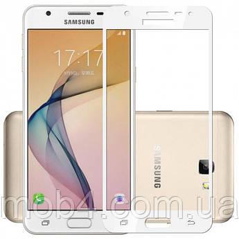 Защитное стекло для Samsung Galaxy (Самсунг) J7 2018 (на весь экран)