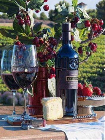 """Картина по номерам EOTG6079_O 40*50см """"Вино"""" OPP (холст на раме с краск.кисти), фото 2"""