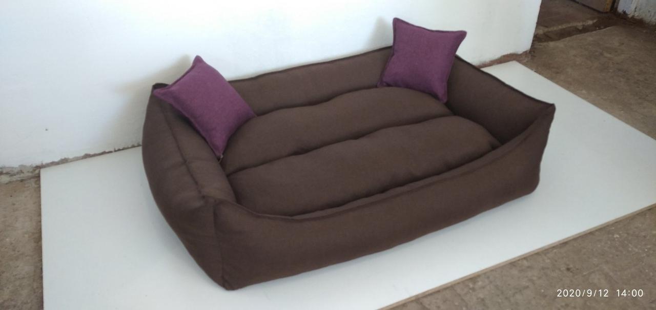 Теплый Диван лежанка Premium для больших собак 120х80 см.Лежанка,Лежаки,лежак,лежак для собак,ліжко