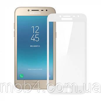 Защитное стекло для Samsung Galaxy (Самсунг) J2 pro 2018 на весь экран