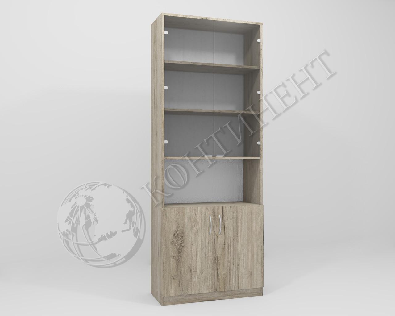 Шкаф стеллаж со стеклом ОШС-2