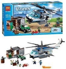 """Конструктор 10423 BELA Urban """"Вертолітний патруль"""" 528 деталей"""