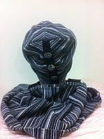 набор  шапочка и шарф рисунок в полоску