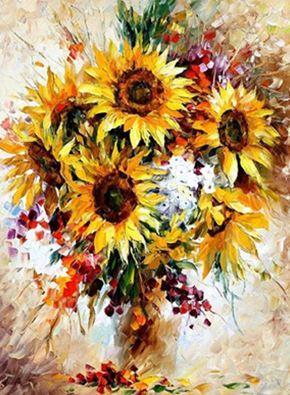 """Картина за номерами EPH9316_O 40*50см """"Соняшники"""" OPP (полотно на рамі з фарбами.кисті)"""