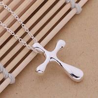 """Женская подвеска """"Крест"""", покрытие серебро 925"""
