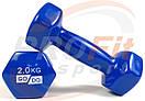 Виниловые гантели для фитнеса GoDo 0.5 кг - 3 кг (поштучно), фото 6