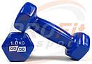 Виниловые гантели для фитнеса GoDo 0.5 кг - 3 кг (поштучно), фото 4