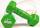 Виниловые гантели для фитнеса GoDo 0.5 кг - 3 кг (поштучно), фото 5