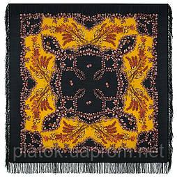 Рябина 352-18, павлопосадский платок шерстяной  с шерстяной бахромой
