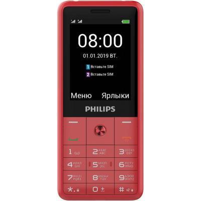 Купить Мобильные телефоны, смартфоны, Мобильный телефон PHILIPS Xenium E169 Red