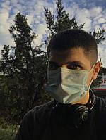 Трехслойные медицинские маски хорошего качества со вставкой для носа и качественной резинкой Цена за 100 шт.