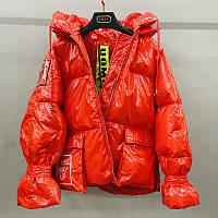 Пуховик, женская короткая куртка,водонепроницаемая яркая, фото 1