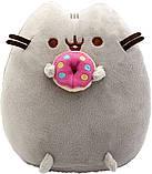 Мягкая игрушка котик с пончиком в лапках Pusheen cat + Подарок (vol-747), фото 5