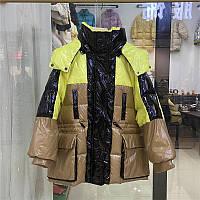 Распродажа межсезонья 2020 новый пуховик женский короткий популярный цвет яркая поверхность утолщение модная универсальная куртка тренд, фото 1