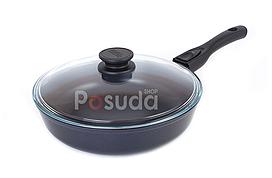 Сковорода со съемной ручкой и крышкой Биол Классик 22 см 22071ПС